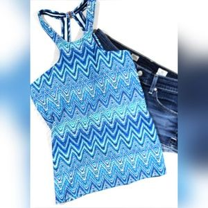 NWT Island Escape St. Martin High Neck Tankini Top